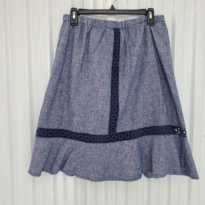 Joe Fresh Linen/Cotton Blend Skirt